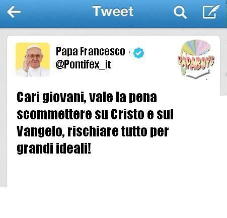 Il tweet di questa mattina di Papa Francesco
