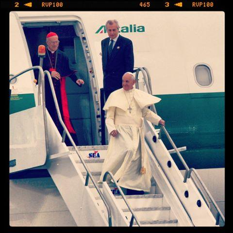 L'arrivo di Papa Francesco in Brasile