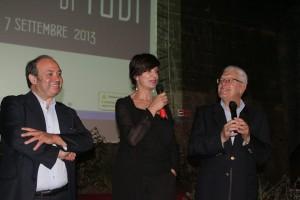 8 agosto 2013 Laura Morante al Film Festival con Alberto Di Giglio ed Ernesto G Laura