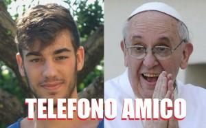 Papa Francesco ha telefonato a questo giovane nella foto