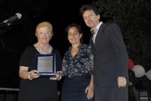 Maria Teresa Letta vice presidente della croce rossa con il Sindaco di Torrevecchia Teatina Baboro e con Massimo Pamio, direttore del Museo