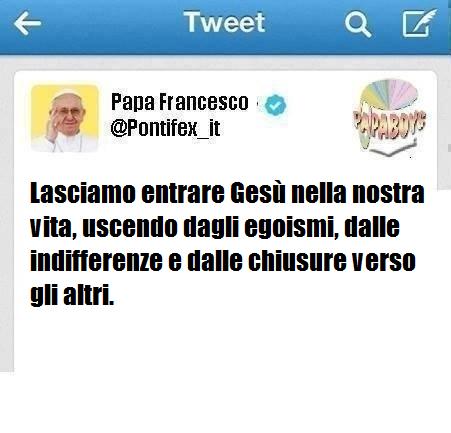 Il secondo tweet che è stato pubblicato sull'account @Pontifex_it
