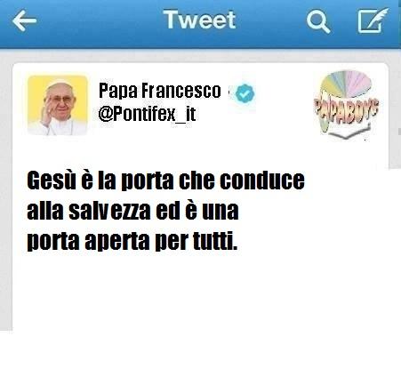 Il primo tweet di questo martedì di Papa Francesco