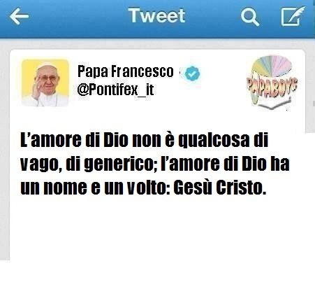 Il tweet di oggi del Papa