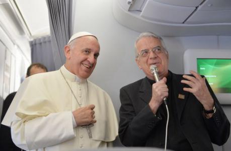 Padre Federico Lombardi con Papa Francesco