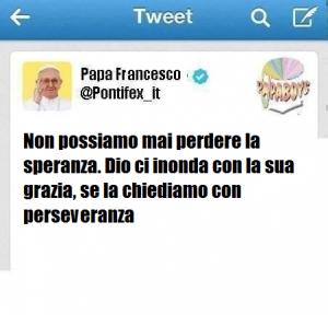 Il secondo tweet di oggi di Papa Francesco