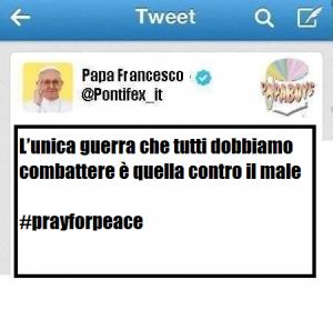 Nuovo tweet: Guerra al male!