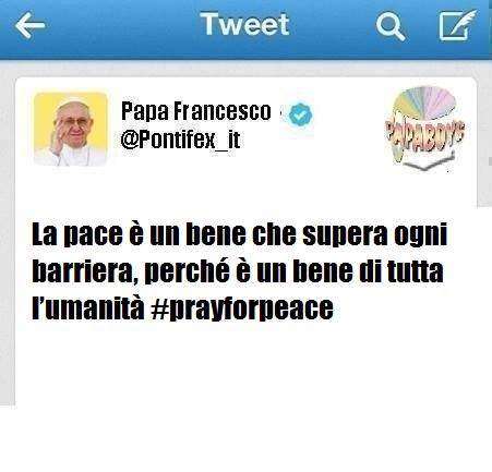Il primo tweet di questo venerdì di Papa Francesco