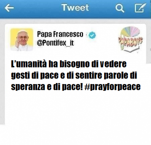 Terzo tweet di oggi dall'account @Pontifex_it