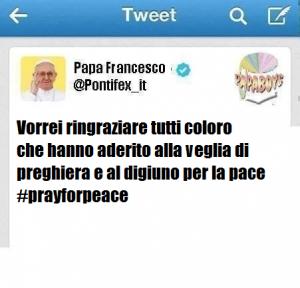 Papa Francesco ringrazia
