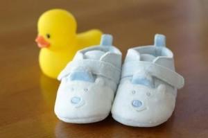 Scarpette per neonati mai nati