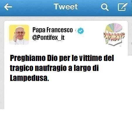 Il tweet di oggi di PAPA FRANCESCO