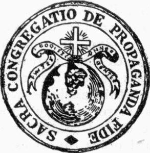 Risultati immagini per logo propaganda fide