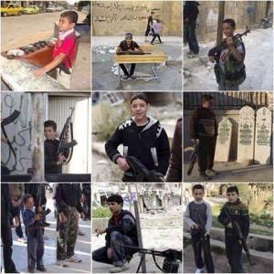 I bambini soldato che combattono in Siria