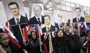 Manifestazione in Siria a favore di Hassad.