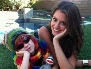 """Lori Duron, con il figlio """"arcobaleno"""""""