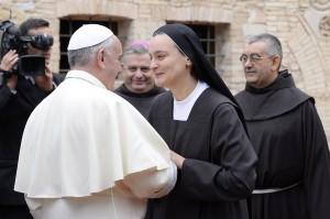 Papa Francesco in visita ad Assisi