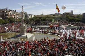 Demonstration against Spanish goverment austerity measures