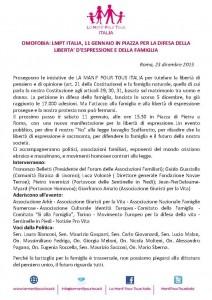 Lettera per la manifestazione dell'11 Gennaio 2014.