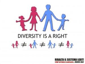 La diversità è la base della società.