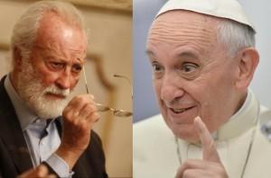 Eugenio Scalfari e Papa Francesco.