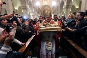 Messa di Natale nella Basilica della Natività di Betlemme