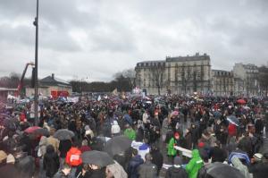 I numerosissimi manifestanti alla giornata
