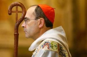 Il Cardinale Philippe Barbarin, Arcivescovo di Lione.