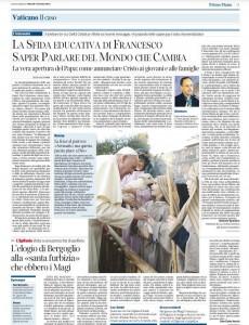 """Parte dell'intervista rilasciata da Padre Sapdaro SJ, al """"Corriere della Sera"""""""