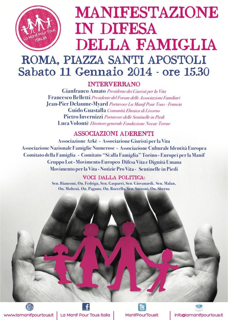 Lìiniziativa di questo sabato a Roma