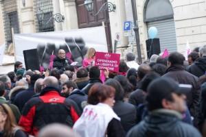 Manifestazione a Piazza XII Apostoli per la Famiglia naturale.