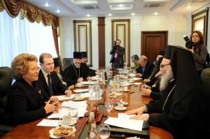 Incontro tra la delegazione del Patriarcato di Mosca per la Siria e la presidente del Senato Russo.
