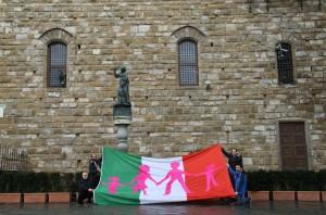 La Bandiera Italiana a difesa della famiglia naturale.