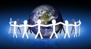 Uniti tutti insieme per un mondo migliore.