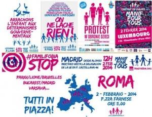 Volantini delle Manifestazioni di Manif Pour Tous.