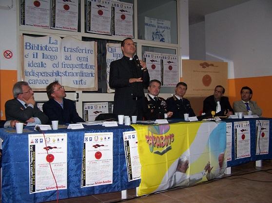 Don Luigi ospite al premio Legalità dei Papaboys in Campania a Teggiano