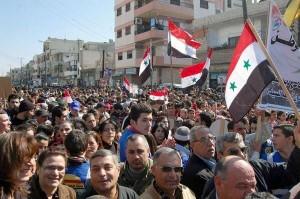 Homs (nei quartieri di Zahra e al-Arman) e Hassaké, manifestazione a favore dell'Esercito Siriano.