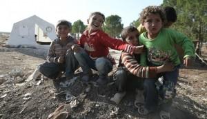 Bambini siriani in un campo profughi. Photo the Gabriel Chaim.