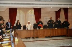 Partecipanti all'incontro con il Patriarca Rai.