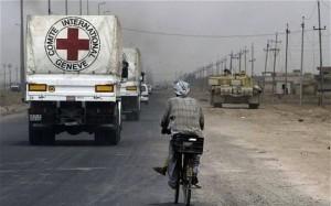Camion di Aiuti umanitari per la popolazione siriana.