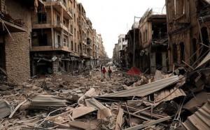 Case siriane distrutte dalla guerra.