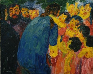 Emil Nolde - Christ and the Children