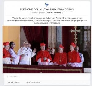 La prima uscita pubblica di Papa Francesco.