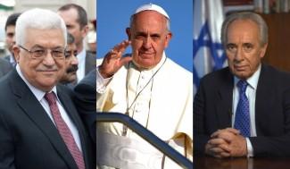 Papa Francesco, Abu Mazen e Shimon Peres