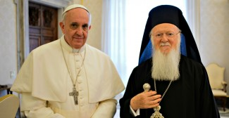 Papa Francesco con il Patriarca Bartolomeo I