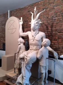 La statua di satana in Oklaoma.