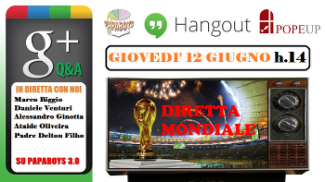 Tornano gli hangout video dei Papaboys per i Mondiali di Calcio