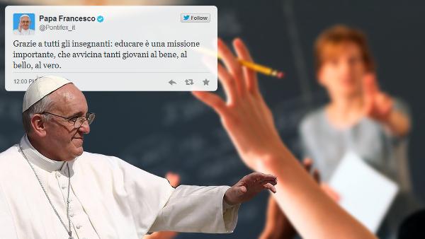 I tweet del Papa @Pontifex_it: grazie a tutti gli insegnanti