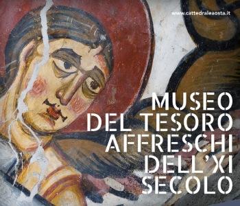 Aosta, apertura estiva degli affreschi dell'XI sec. nel Museo del Tesoro della Cattedrale