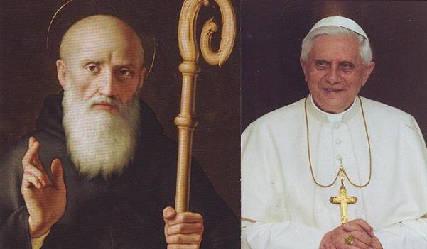 Papa e San Benedetto